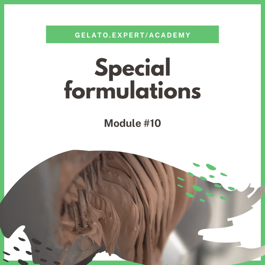Gelato special formulations